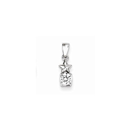 Sterling Silver Star Cz Pendant, Best Quality Free Gift Box Satisfaction Guaranteed - shopvistar