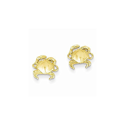 14k Crab Earrings, Best Quality Free Gift Box Satisfaction Guaranteed - shopvistar