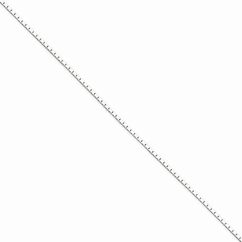 Sterling Silver 1.25mm Mirror Box Chain, Best Quality Free Gift Box Satisfaction Guaranteed - shopvistar