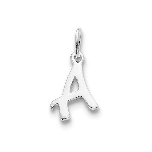 Sterling Silver Initial A Pendant, Best Quality Free Gift Box Satisfaction Guaranteed - shopvistar