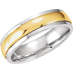 10K Yellow Gold And Sterling Silver Precious Bond Band, Size: 12 - shopvistar