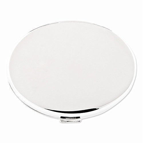 Silver-plated Oval Compact Mirror - shopvistar