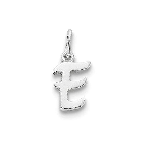 Sterling Silver Initial E Pendant, Best Quality Free Gift Box Satisfaction Guaranteed - shopvistar