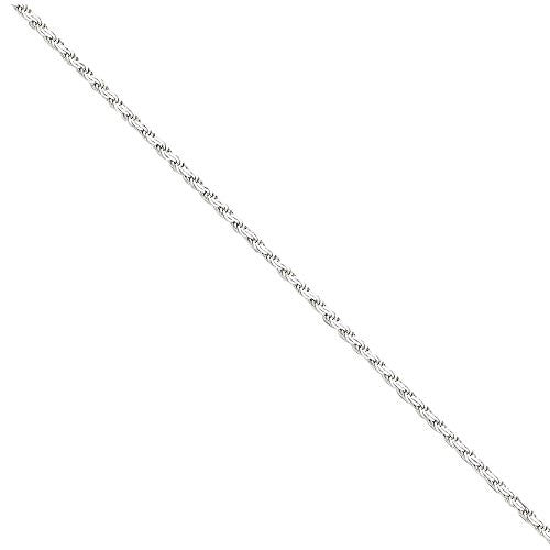 Sterling Silver 2.25mm Flat Rope Chain, Best Quality Free Gift Box Satisfaction Guaranteed - shopvistar