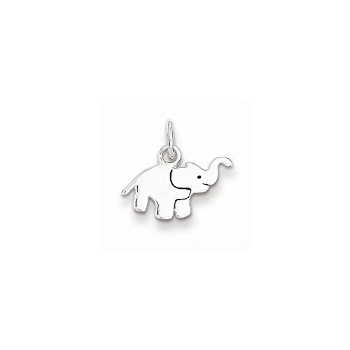 Sterling Silver Enameled Elephant Charm, Best Quality Free Gift Box Satisfaction Guaranteed - shopvistar