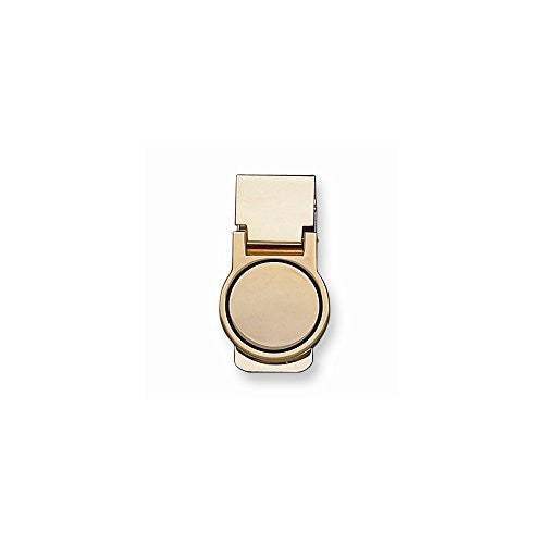 Gold-tone Metal Money Clip - shopvistar