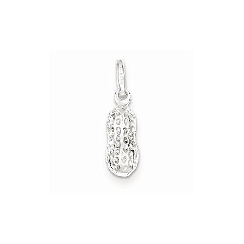 Sterling Silver Peanut Charm, Best Quality Free Gift Box Satisfaction Guaranteed - shopvistar