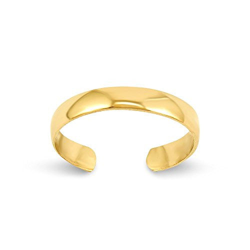 14k High Polished Toe Ring, Best Quality Free Gift Box Satisfaction Guaranteed - shopvistar