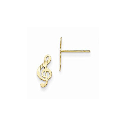 14k Madi K Polished Musical Note Post Earrings - shopvistar