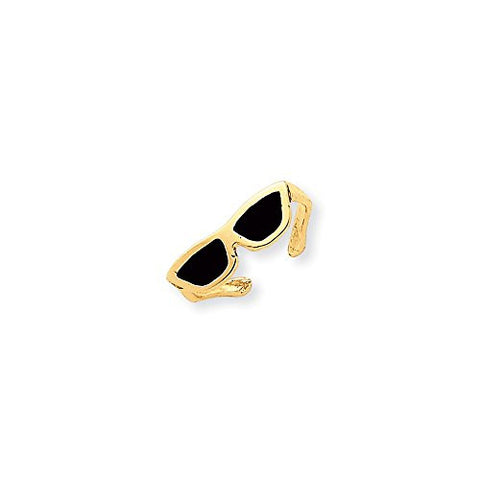 14k Enameled Sunglasses Toe Ring, Best Quality Free Gift Box Satisfaction Guaranteed - shopvistar