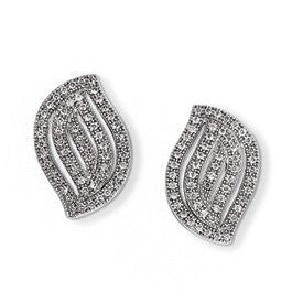 Sterling Silver & CZ Brilliant Embers Post Earrings - shopvistar
