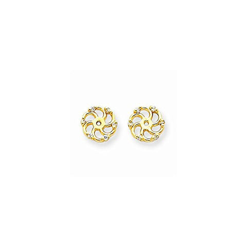 14k Diamond Earring Jacket Mountings - shopvistar