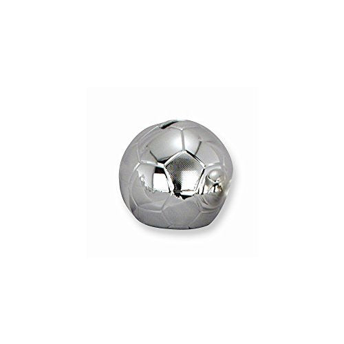 Soccer Ball Silver-plated Polished Metal Bank - shopvistar