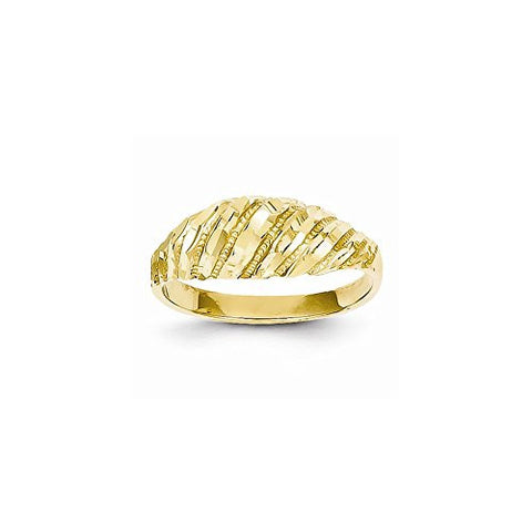 14K Dia-Cut Dome Ring - shopvistar