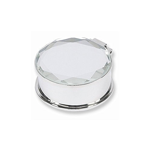 Mirror Lid Round Trinket Box - shopvistar