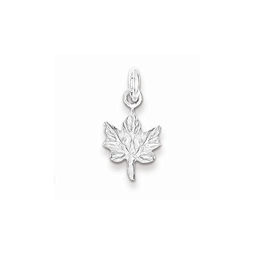 Sterling Silver Maple Leaf Charm, Best Quality Free Gift Box Satisfaction Guaranteed - shopvistar