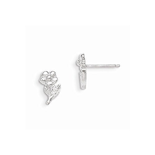 Sterling Silver Flower Mini Earrings - shopvistar