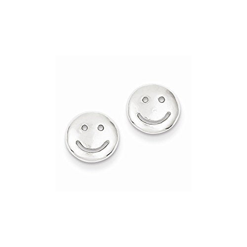 Sterling Silver Smiley Faces Mini Earrings - shopvistar