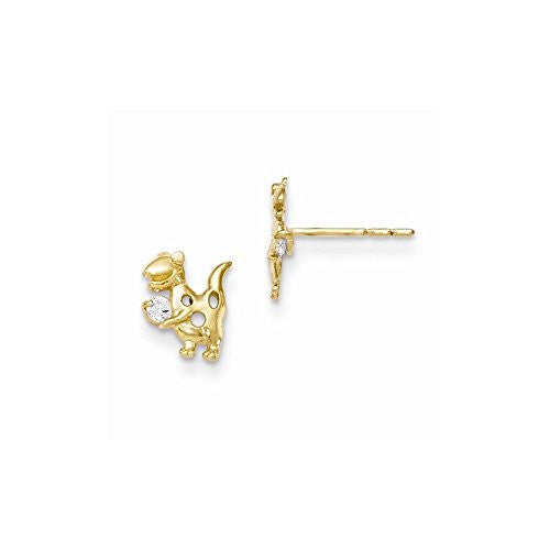 14k Madi K CZ Dinosaur Post Earrings - shopvistar