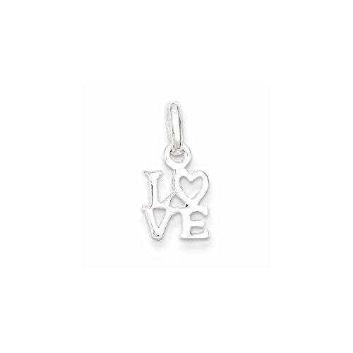 Sterling Silver Love Charm, Best Quality Free Gift Box Satisfaction Guaranteed - shopvistar