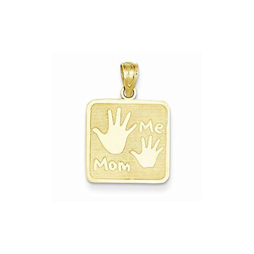 14k Mom & Me Hands Pendant, Best Quality Free Gift Box Satisfaction Guaranteed - shopvistar