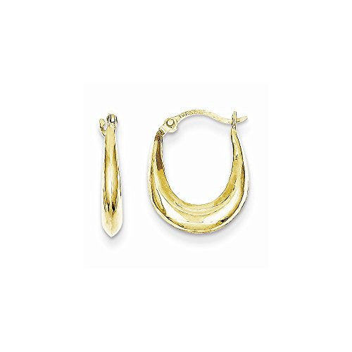 10k Hollow Hoop Earrings, Best Quality Free Gift Box Satisfaction Guaranteed - shopvistar