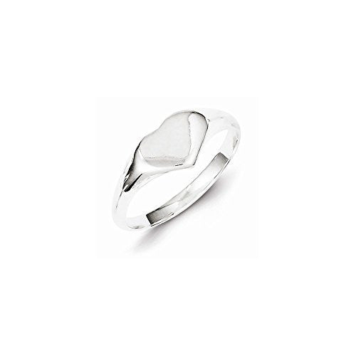 Sterling Silver Heart Signet Ring, Best Quality Free Gift Box Satisfaction Guaranteed - shopvistar