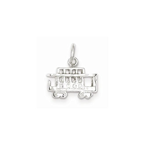 Sterling Silver Streetcar Charm, Best Quality Free Gift Box Satisfaction Guaranteed - shopvistar