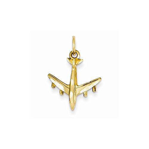 14k 3-d Airplane Charm, Best Quality Free Gift Box Satisfaction Guaranteed - shopvistar