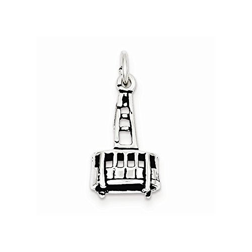 Sterling Silver Antiqued Gondola Charm, Best Quality Free Gift Box Satisfaction Guaranteed - shopvistar
