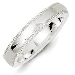 Ss 4mm Millgrain Comfort Fit Band, Best Quality Free Gift Box Satisfaction Guaranteed - shopvistar