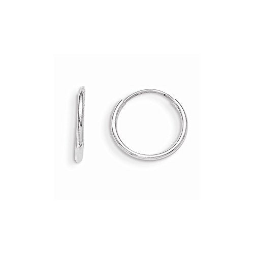 14k White Gold Madi K Endless Hoop Earrings, Best Quality Free Gift Box Satisfaction Guaranteed - shopvistar
