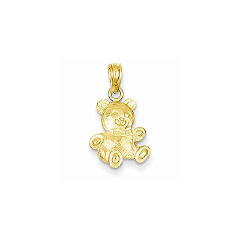 14k 2-d Teddy Bear Pendant, Best Quality Free Gift Box Satisfaction Guaranteed - shopvistar