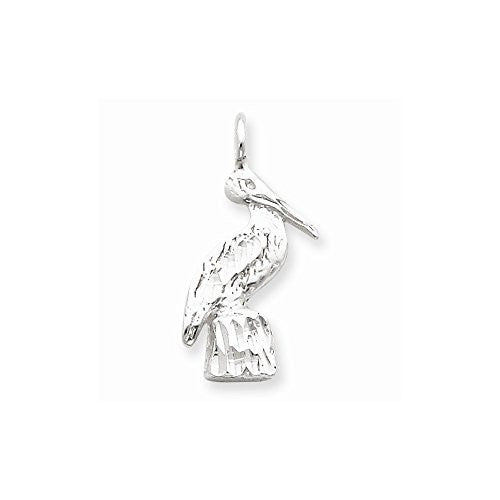Sterling Silver Pelican Charm, Best Quality Free Gift Box Satisfaction Guaranteed - shopvistar