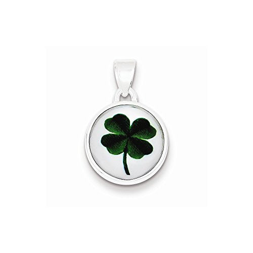 Sterling Silver 4 Leaf Clover Pendant, Best Quality Free Gift Box Satisfaction Guaranteed - shopvistar