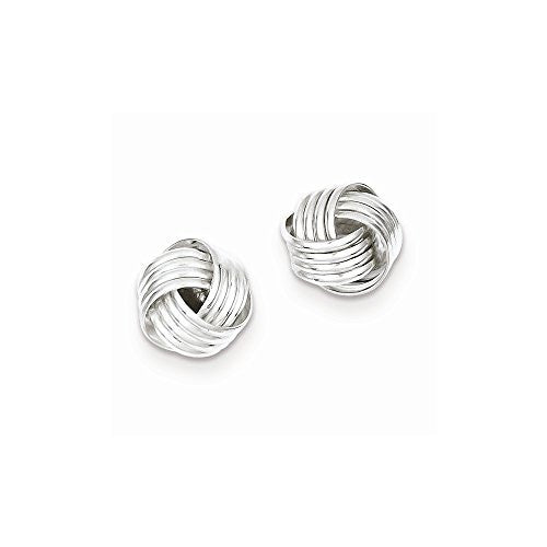 Sterling Silver Love Knot Earrings, Best Quality Free Gift Box Satisfaction Guaranteed - shopvistar