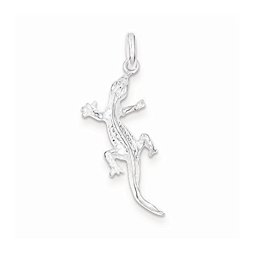 Sterling Silver Lizard Charm, Best Quality Free Gift Box Satisfaction Guaranteed - shopvistar