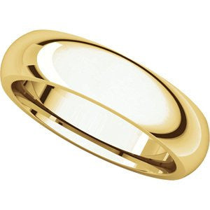24K Yellow Gold Comfort Fit Band, Size: 6 - shopvistar