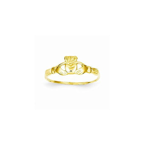 14k Childs Polished Claddagh Ring - shopvistar