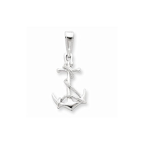 Sterling Silver Anchor & Rope Pendant, Best Quality Free Gift Box Satisfaction Guaranteed - shopvistar