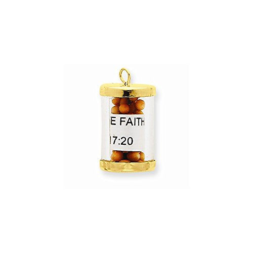 14k Mustard Seeds Charm, Best Quality Free Gift Box Satisfaction Guaranteed - shopvistar