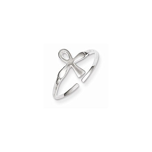 Sterling Silver Ankh (egyptian Cross) Toe Ring, Best Quality Free Gift Box Satisfaction Guaranteed - shopvistar