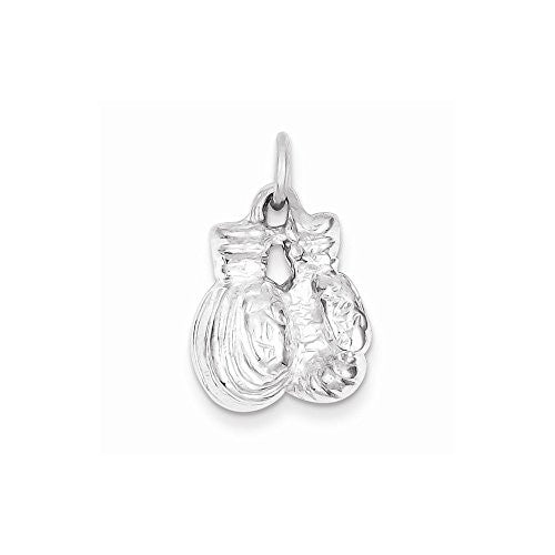 Sterling Silver Boxing Gloves Charm, Best Quality Free Gift Box Satisfaction Guaranteed - shopvistar