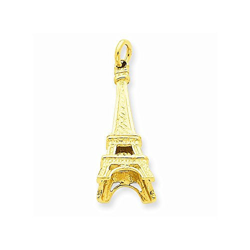 14k Eiffel Tower Charm, Best Quality Free Gift Box Satisfaction Guaranteed - shopvistar