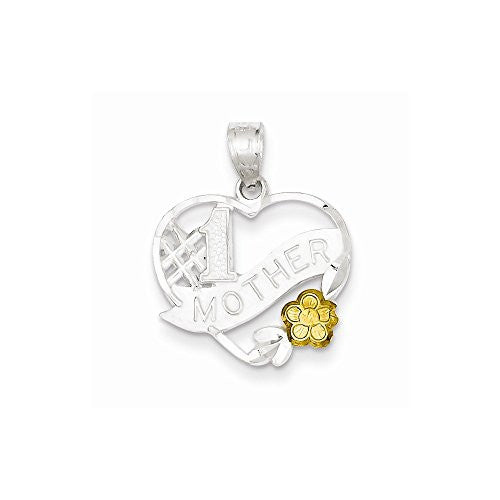 Sterling Silver 1 Mother Heart Charm, Best Quality Free Gift Box Satisfaction Guaranteed - shopvistar