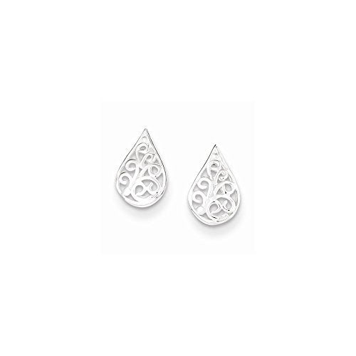 Sterling Silver Filigree Post Earrings, Best Quality Free Gift Box Satisfaction Guaranteed - shopvistar