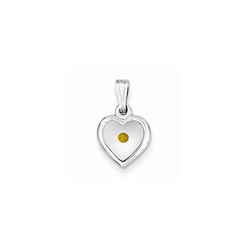 Sterling Silver Small Heart with Mustard Seed Pendant, Best Quality Free Gift Box Satisfaction Guaranteed - shopvistar