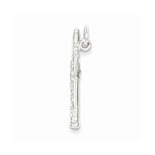 Sterling Silver Flute Charm, Best Quality Free Gift Box Satisfaction Guaranteed - shopvistar