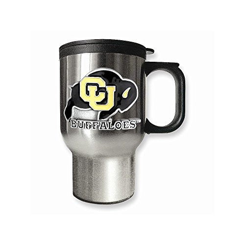 University of Colorado 16oz Stainless Steel Travel Mug - shopvistar