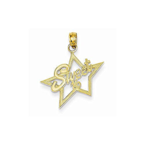 14k Sweet 16 Charm, Best Quality Free Gift Box Satisfaction Guaranteed - shopvistar